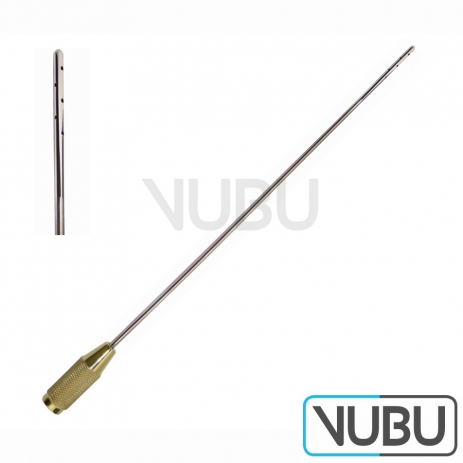 Liposuction Cannula-10 holes -each hole Ø1.0 mm -For infiltration-Cannula