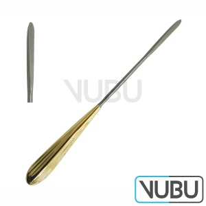 "DANIEL (SHAPER) Endoforehead/Scalp Elevator Dissector, Straight, Round Blade, Width 7 mm, Length 9 1/2""/ 24 cm"