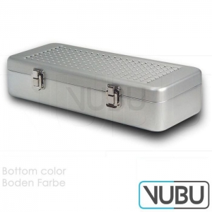 Container 300mm x 138mm x 65mm silver Lid perforated - perforated pan o filter. Internal dimensions 300mm x 138mm x 65mm
